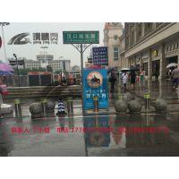 武汉升降路桩批发 固定式路桩图片 防冲撞路桩 汉口火车站路桩 钢精灵路桩公司