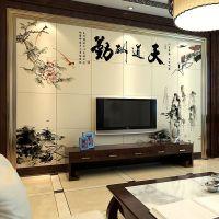 特色景德镇陶瓷壁画,山水花卉家居装饰背景墙壁画
