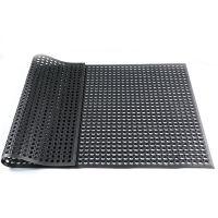 天然橡胶带孔排水安全酒店厨房防滑地垫车间抗疲劳橡胶地垫脚垫