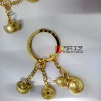 葫芦钥匙扣定制 铜钱吊牌 元宝挂件制作 深圳钥匙扣厂 现货现模定制