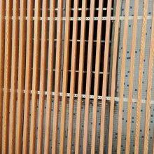 写字楼走廊铝方通吊顶 大型公共场所吊顶木纹铝条板方通