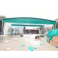 诸暨市伸缩式遮阳棚推拉活动雨篷移动式简易涂塑布帐蓬