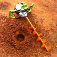 江苏省电线杆立柱打眼机 启航牌一人可操作的园林挖坑机 围栏立柱钻坑机厂家