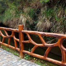 四川成都仿木纹栏杆、仿石栏杆、水泥园艺河道护栏厂家