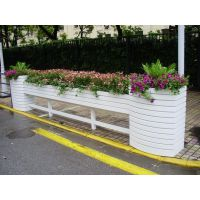 成都路百全HX-1230花箱隔离栏道路隔离花箱护栏