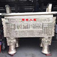 铸铜宗祠长方形香炉鼎,广东揭阳宗祠香炉供应商