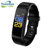 新款ID115puls彩屏心率血压血氧智能手环防水计步运动睡眠手表