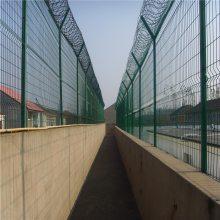 监狱警戒防护网 工厂外围护栏网 直销西安框架护栏网
