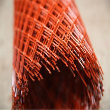 菱形钢板网 平台钢板网 红色圈地网