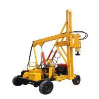 履带式 轮式 机锁杆 旋挖机 挖坑机 打桩机 厂家 价格 一般情况下,公路打桩机在到达工地上,主机和