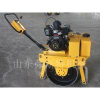 单钢轮压路机轮宽仅45CM 小型手扶压路机品质优越哦
