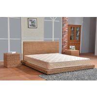 藤格格 9027-36 厂家批发天然橡胶木藤床实木板式床1.5米单人床藤 藤编家具 1.8米床双人床