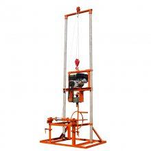 天德立龙门架式水井钻机 100型家庭吃水安装水空调用打井机