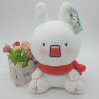 供应毛绒玩具 颜团子系列却耳朵兔子来图打样加工定制