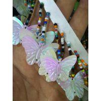 白色蝴蝶亮片串珠吊穗织带花边服饰