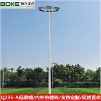深圳球场8米锥形灯杆 足球场15米两节式高杆灯 灯杆厂家直销