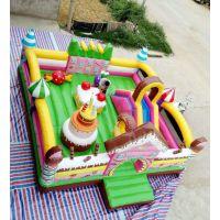 50平米新款蛋糕充气城堡 村里摆个充气蹦床生意可以吗 室外打气跳跳床汽包