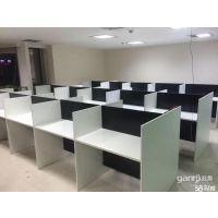 蝴蝶钢架办公桌 简易钢架会议桌 屏风隔断办公桌定制