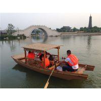 厂家生产销售5米单篷船 各类规格木船 观光船 公园景区游船