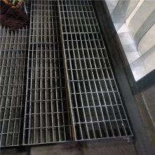 铸铁钢格板 踏步格栅板价格 万泰扇形踏步板