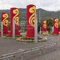 东莞实力大厂专业制作仿真绿雕造型 钢骨架++草皮中国风仿真绿雕