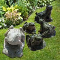 石雕青蛙大理石绿色石头园林草地吐水青蛙动物装饰摆件曲阳万洋雕刻厂家定做