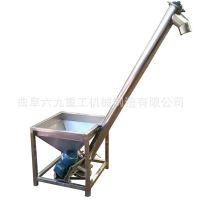 湖口县大管径螺旋加料机 粮食装罐螺旋提升机 长距离螺旋输送机