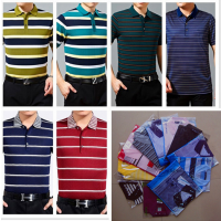 夏季韩版时尚男士翻领T恤中年男士短袖纯棉T恤批发工厂