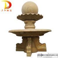 石雕喷泉风水球欧式喷水转运球水钵户外大型流水喷泉景观别墅摆件多红雕塑