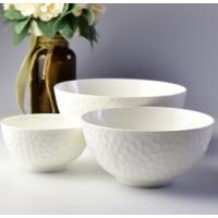 北都厂家批发白色水立方浮雕餐具套装