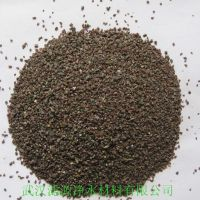 黑色耐磨地坪金刚砂滤料 专业高效水处理滤料 天然磨料金刚砂
