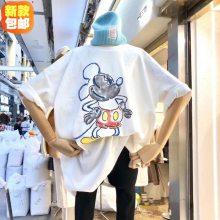 便宜女装T恤韩版地摊货便宜尾货时尚夏季短袖女士上衣库存服装清仓
