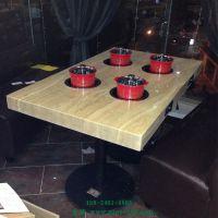 深圳餐饮简约现代自助餐厅火锅桌烧烤桌子椅子