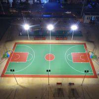 江门篮球场灯杆一拖六(六个灯头)灯柱高度范围(6--15米) 篮球场灯光价格