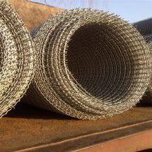 矿筛轧花网型号 钢丝轧花网规格 振动矿筛网