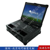 17寸定制抽拉硬盘工业便携机外壳军工电脑机箱加固笔记本机箱铝