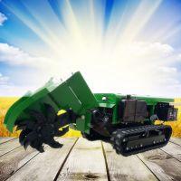 启航果树追肥开沟机 橡胶轮胎履带式开沟施肥回填一体机品牌