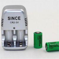 CR2电池五号充电套装 3V锂电池套装充电器拍立得相机测量设备专用