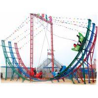 长春创艺供应受欢迎的弯月飞车游乐设备公园庙会人气高的弯月飘车游乐设备