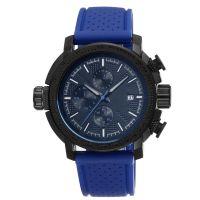 深圳手表厂订制多功能六针运动款男士硅胶表带手表