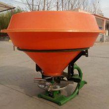 热销拖拉机带后置撒肥机750公斤大容量后传动轴化肥抛洒机三点悬挂施肥器
