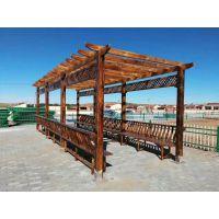 定制炭烧木景观扇形廊架,文化景观宣传栏长廊