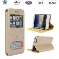 惠州小米手机保护套 超薄纯色可视窗商务款 米6手机配件 OEM贴牌加工