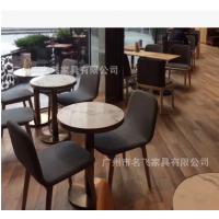 云浮市西餐桌椅,北欧实木不锈钢脚西餐厅甜品店桌椅