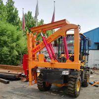 常宁市波形板护栏打桩机车载式公路护栏打桩机