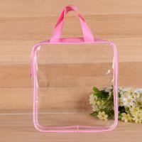 专业定制透明塑料手提袋 PVC玩具胶骨拉链袋 透明礼品袋