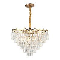 供应 现代个性创意水晶吊灯美式简约卧室餐厅别墅酒店轻奢水滴灯