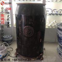 圣菲活瓷能量缸 台湾708负离子粉能量樽养生瓮陶瓷汗蒸缸生产厂家
