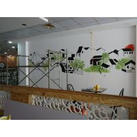 供应南昌墙绘彩绘制作等餐饮彩绘!