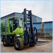 越野叉车适用于泥泞道路鹅卵石道路4吨升高4米的四驱叉车哪里生产